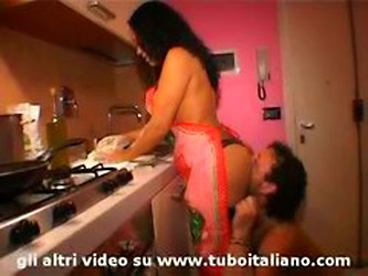 Italian Housewife  Fucked While Shes Cooking...