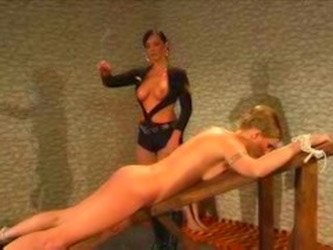 Girl Gets A Brutal Caning While...