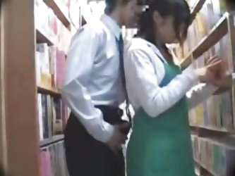 Maniac Attacks Library Nerd Employee at her...