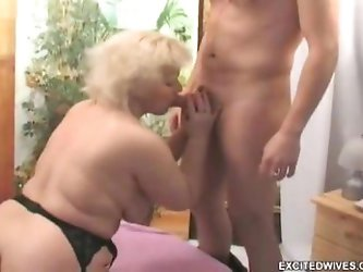 This hot old granny is just craving for the...
