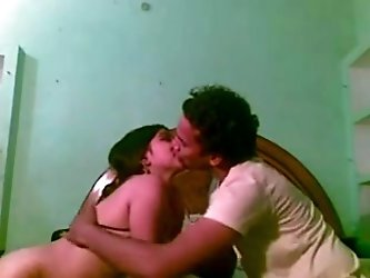 Naughty Bengali young wife bends over for her...