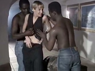 Perverted vintage blond housewife has crazy sex...