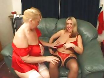 BBW Marie Louise and Samantha indulge in some...