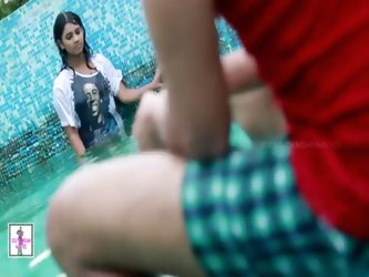 Desi Girl Uma and her Boy friend Swimming pool...